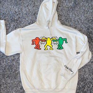 Keith Haring Hoodie Dancing People Rare 🔥💤